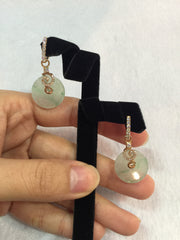 Icy Green Earrings - Safety Coin (EA004)