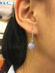Lavender Earrings - Balls (EA045)
