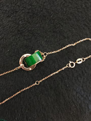 Green Barrel Necklace (NE011)
