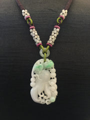 White With Green Pendant - Chayote (PE003)