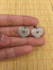 Icy White Earrings - Heart (EA027)