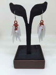 Icy White Earrings - Chilies (EA105)