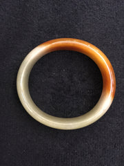 Reddish Yellow Bangle - Oval (BA007)