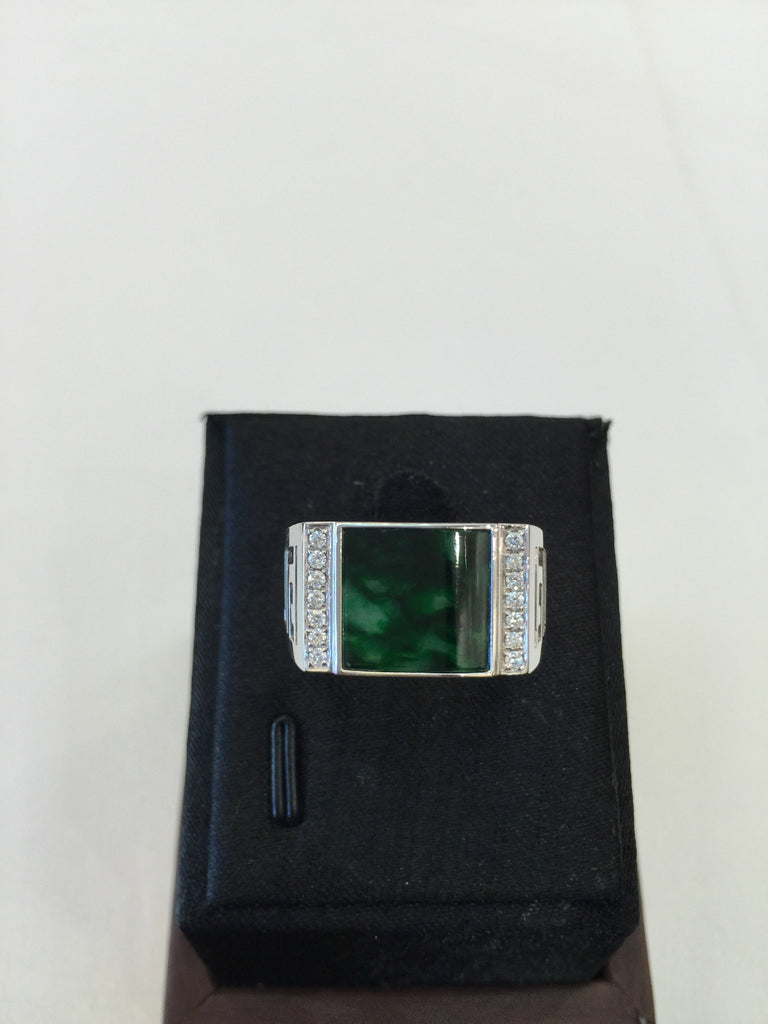 Dark Green Ring - Square (RI008)
