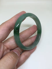 Dark Green Bangle - Oval (BA031)
