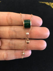 Green Barrel Necklace (NE012)