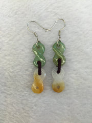 Yellow & Green Earrings - '8' (EA059)