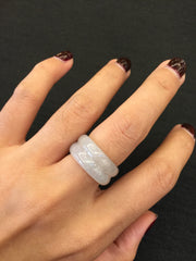 Icy White Double Abacus Ring (RI028)