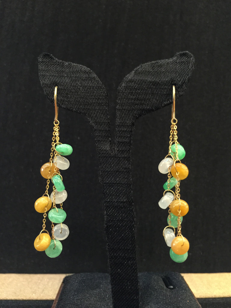Three Coloured Earrings - Abacus Shape (EA095)