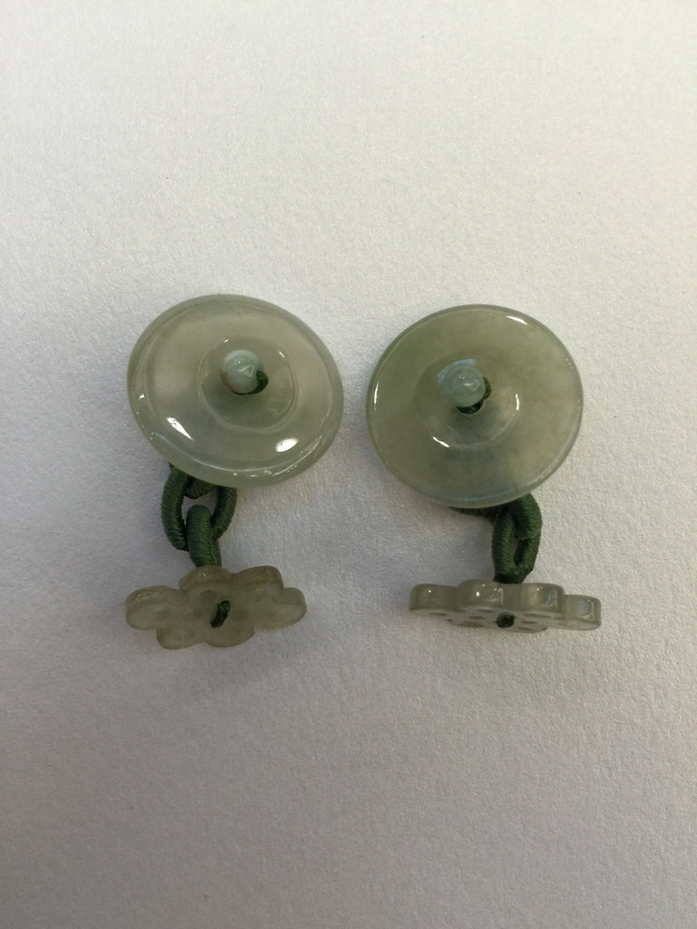 Icy Green Cufflinks - Infinity Knots & Coins (CU001)