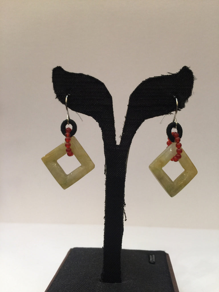Yellow Earrings - Square (EA090)