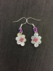 Icy White Earrings - Infinity Knot (EA016)