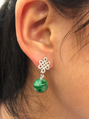 Green Earrings - Bead (EA070)