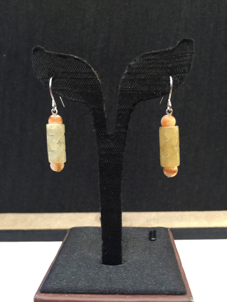 Yellow Earrings - Barrel (EA014)