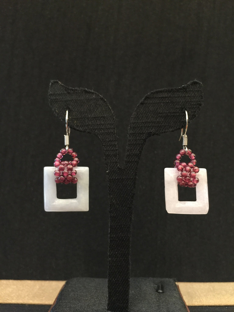Lavender Earrings - Square (EA052)