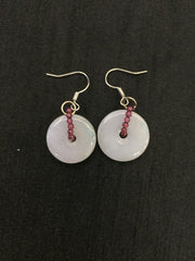 White Earrings - Safety Coin (EA019)