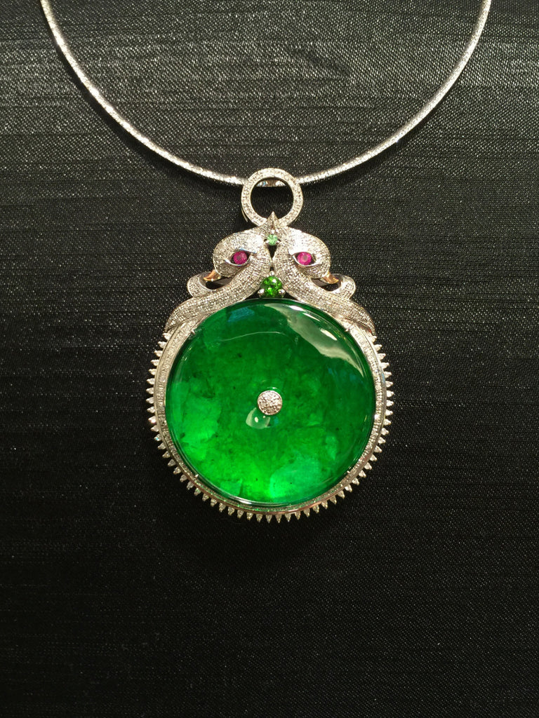 Green Pendant - Coin (PE030)