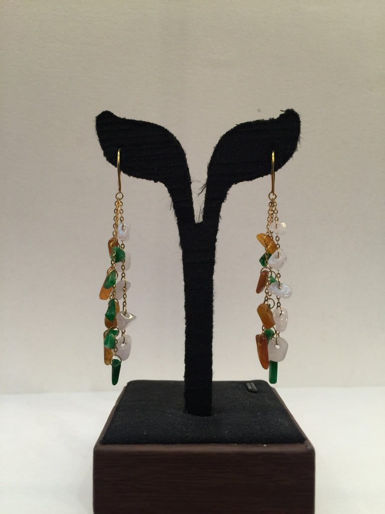Three Coloured Earrings - Irregular Shape (EA002)