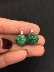 Green Earrings - Balls (EA070)