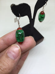 Green Barrel Earrings (EA104)