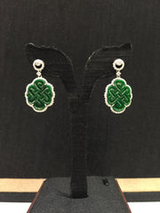 Green Earrings - Infinity Knot (EA051)