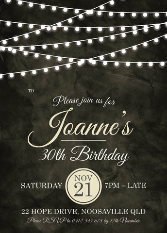 30th birthday invitations unique personalised
