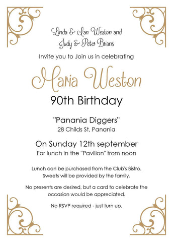 Unique 90th birthday invitations with your photos wetdoginvitations ref 90th 02 stopboris Images