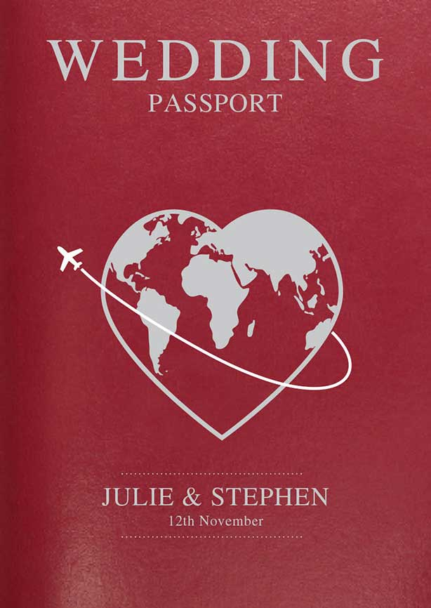 Passport Style Wedding Invitations Australia Wetdog Com Au