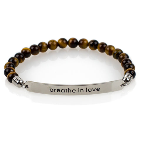 Yoga Mat | Premium Quality Unique Mats Breathe in Love Bracelet - Affirmats