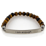 Yoga Mat | Premium Quality Unique Mats I am enough Bracelet - Affirmats