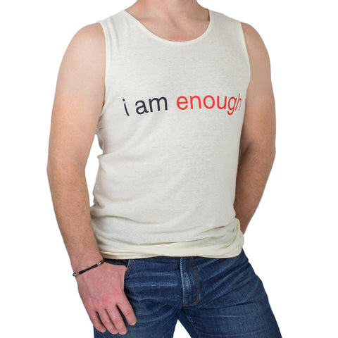I am Enough Mens Hemp Tank