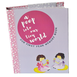 Baby Record Book - Twins Girls (Pink)