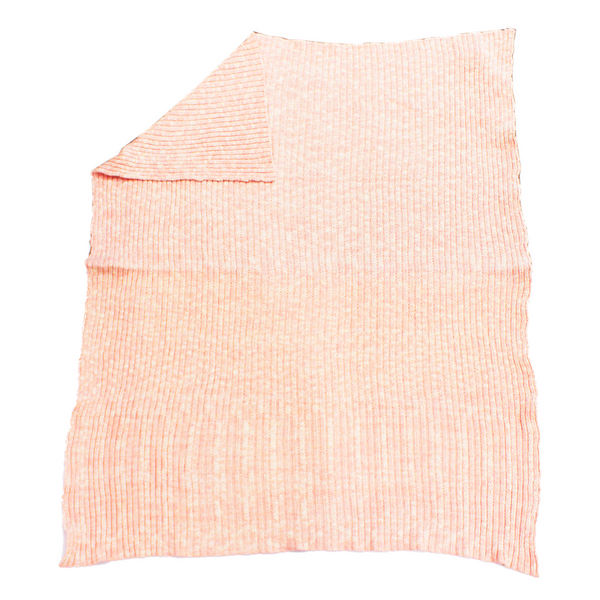 Snowfall pink and white Knitted baby blanket