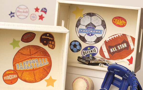 Room Decor Sticker - Sports Stamps