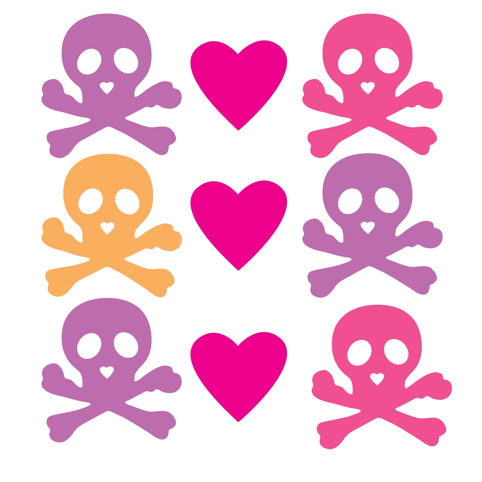 Room Decor Sticker - Candy Skulls