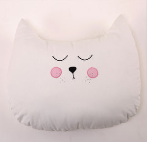 Cat Shaped Cushion (White)