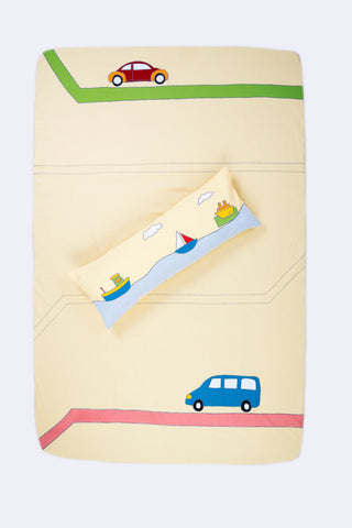 ABC Car Bed Cover Single