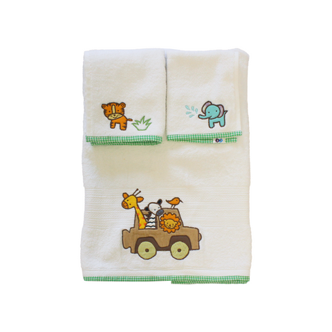 Bath Towel Set - Jungle Safari