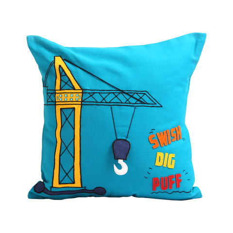 Boys n Toys Swish Dig Puff  Cushion Cover