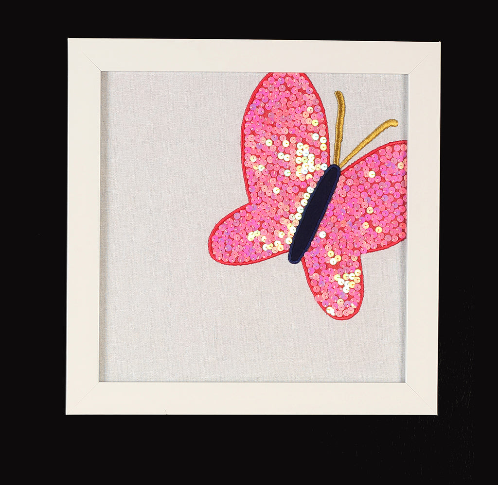 Butterfly Tunes Coral Butterfly Wall Art Frames
