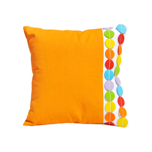 "Circus Felt Dots 12"" x 12"" Cushion Cover"