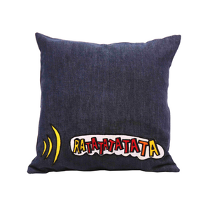 "Comic Connection Dark Denim 12"" x 12"" Cushion Cover"