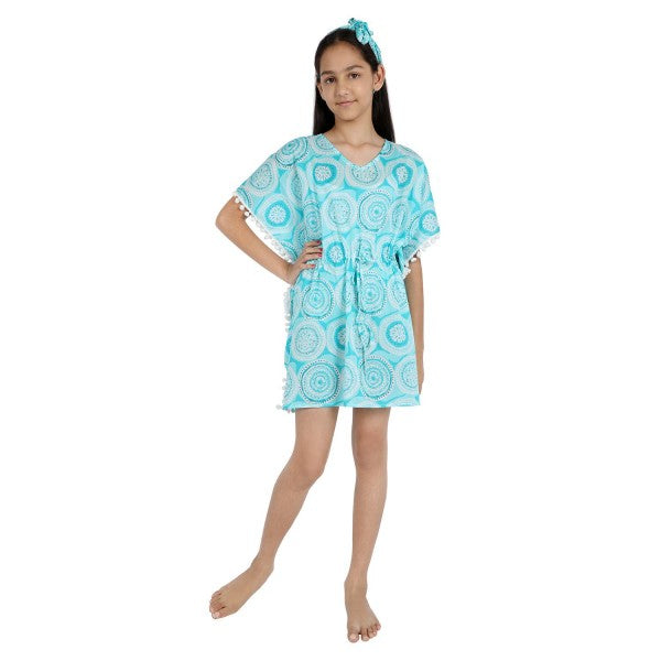 Circle Print Pure-cotton Cover-up