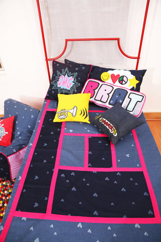 Comic Connection Girls Bed Cover Single