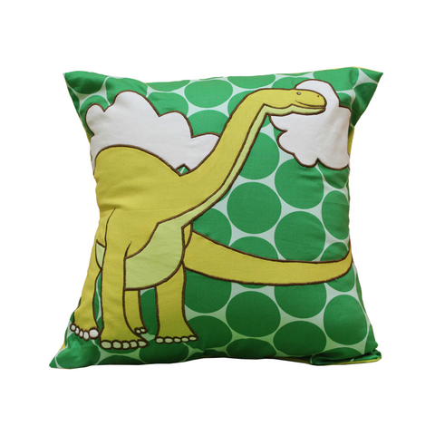 Dinosaur Green Cushion Cover