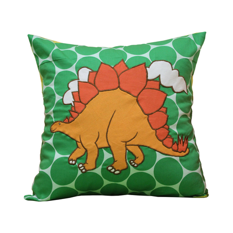 Dinosaur Orange Cushion Cover