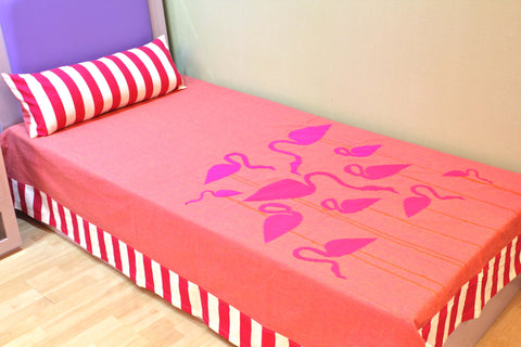 Flamingo Bed Cover Single