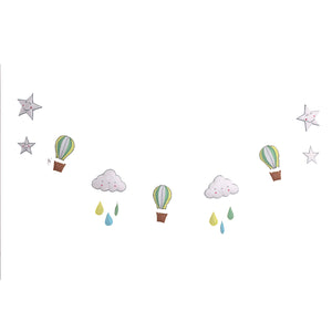 Hot air balloon - Multi colour Bunting