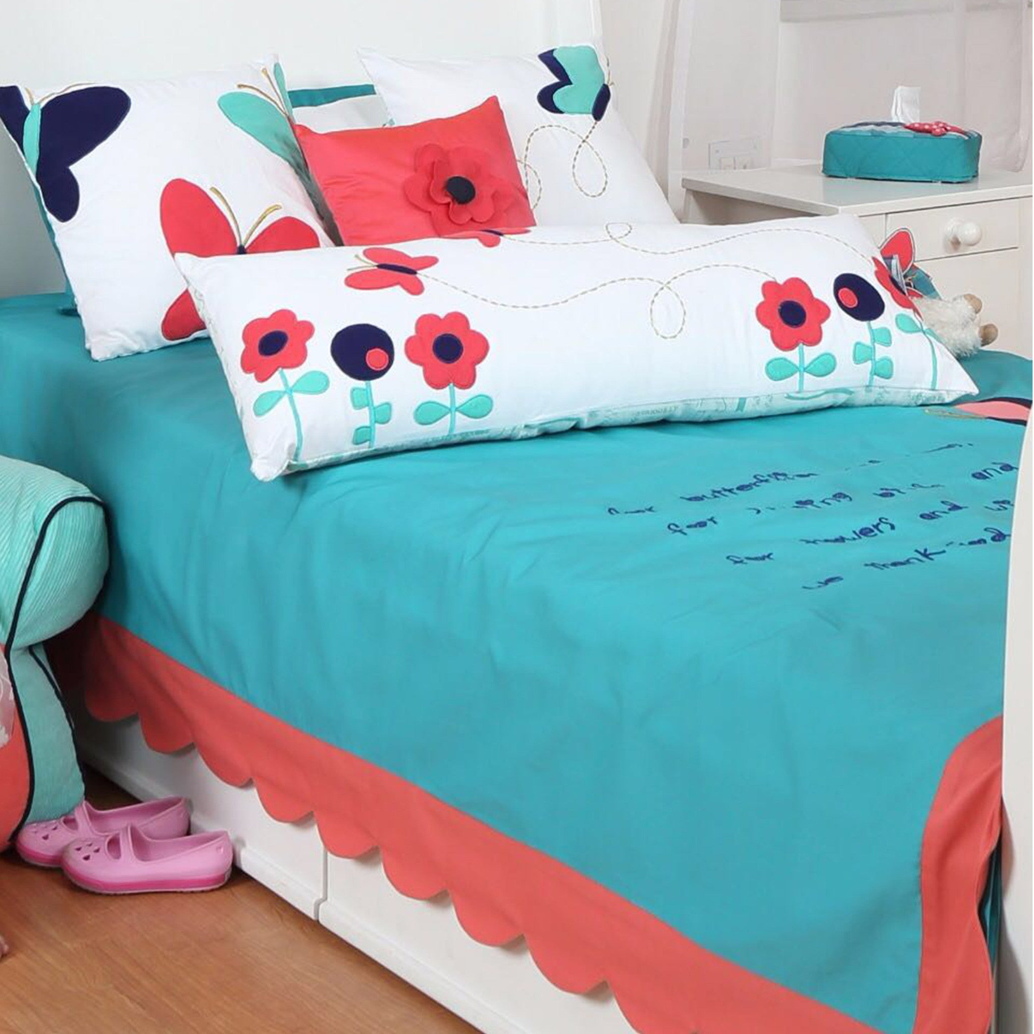 Butterfly Tunes  Bed Cover Single