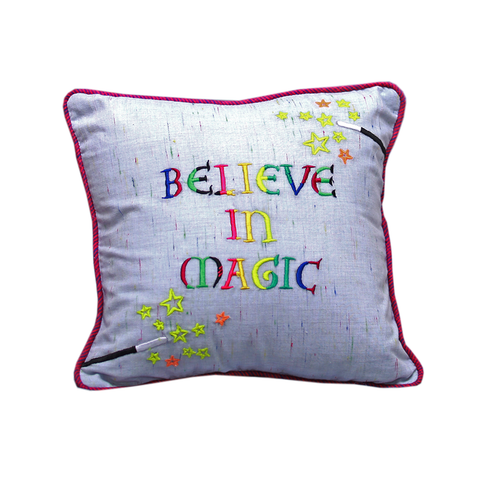 "Magic-Believe in magic 12"" x 12"" Cushion Cover"